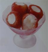 まるごと苺アイス
